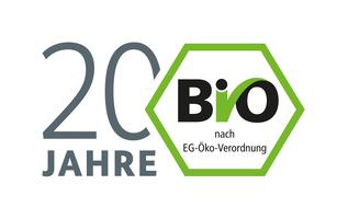 Logo 20 Jahre Bio-Siegel